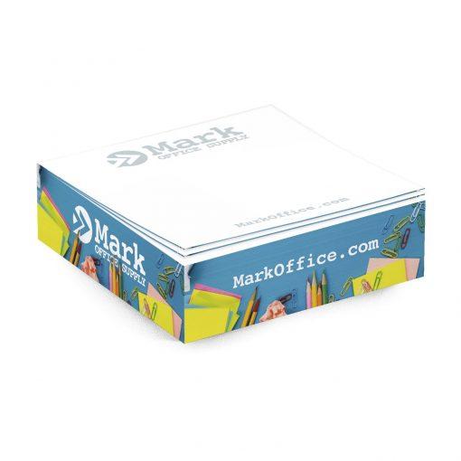 "Adhesive Cube Pad w/ Full Color (3 3/8""x3 3/8""x1"")"