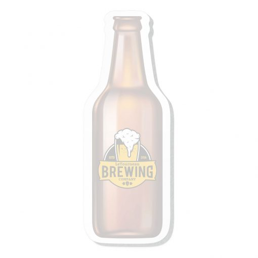 """Beer Bottle Stock Shape 50 Sheet Adhesive Die Cut Pad (4 1/4""""x5 1/4"""")"""
