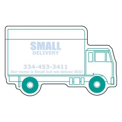 """Delivery Truck Stock Shape 25 Sheet Adhesive Die Cut Pad (4""""x4"""")"""