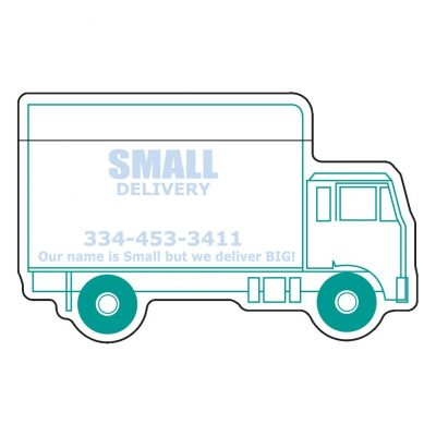 "Delivery Truck Stock Shape 50 Sheet Adhesive Die Cut Pad (4""x4"")"