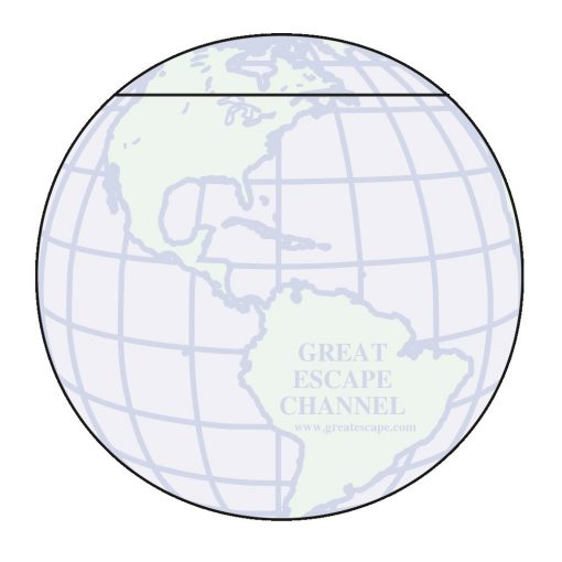 "Globe Stock Shape 25 Sheet Adhesive Die Cut Pad (4 1/4""x5 1/4"")"