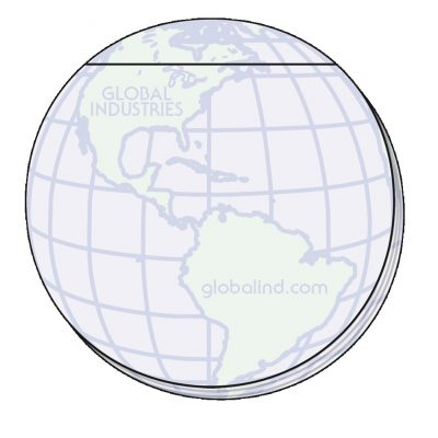 "Globe Stock Shape 25 Sheet Adhesive Die Cut Pad (4""x4"")"