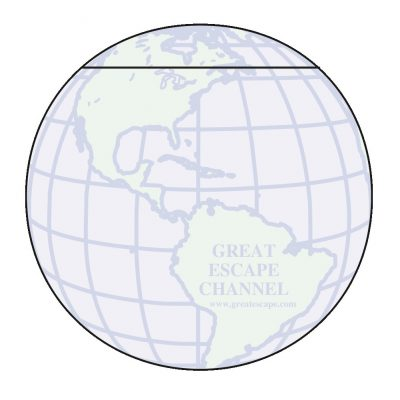 "Globe Stock Shape 50 Sheet Adhesive Die Cut Pad (4 1/4""x5 1/4"")"