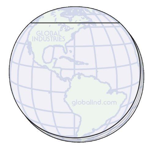 "Globe Stock Shape 50 Sheet Adhesive Die Cut Pad (4""x4"")"