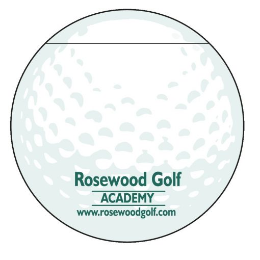 "Golf Ball Stock Shape 25 Sheet Adhesive Die Cut Pad (4 1/4""x5 1/4"")"