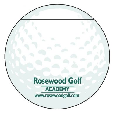 "Golf Ball Stock Shape 50 Sheet Adhesive Die Cut Pad (4 1/4""x5 1/4"")"