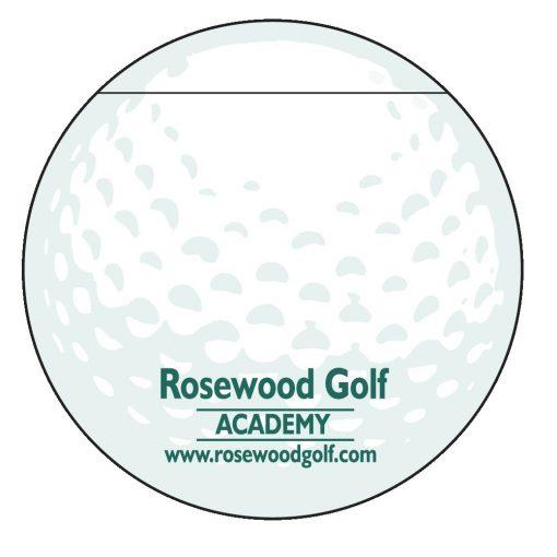 "Golf Ball Stock Shape 50 Sheet Adhesive Die Cut Pad (4 1/4""x5 1/4"")"