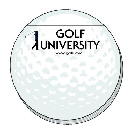 "Golf Ball Stock Shape 50 Sheet Adhesive Die Cut Pad (4""x4"")"