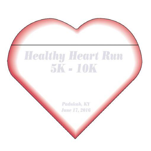 "Heart Stock Shape 25 Sheet Adhesive Die Cut Pad (4 1/4""x5 1/4"")"