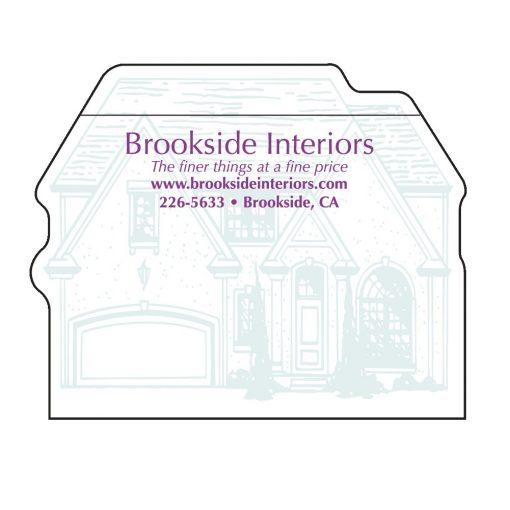 "House Stock Shape 25 Sheet Adhesive Die Cut Pad (4""x4"")"