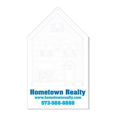"House Stock Shape Die Cut Scratch Pad (4""x7"")"