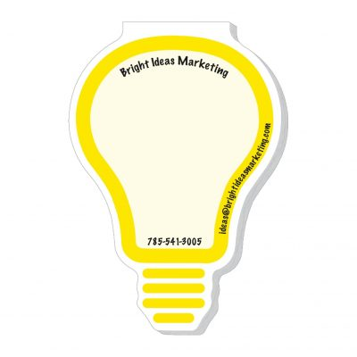 "Light Bulb Stock Shape Die Cut Scratch Pad (4""x7"")"