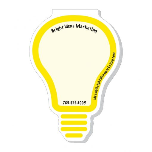 "Light Bulb Stock Shape Die Cut Scratch Pad (4""x7"")"