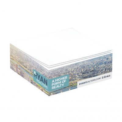 "Non-Adhesive Cube Pad w/ Full Color (3 3/8""x3 3/8""x1 1/4"")"