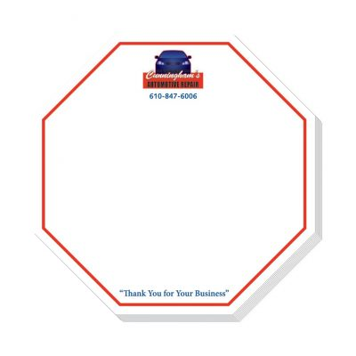 "Octagon Stock Shape 25 Sheet Adhesive Die Cut Pad (4""x4"")"