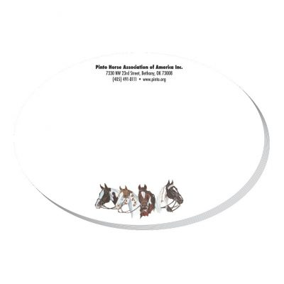 "Oval Stock Shape 25 Sheet Adhesive Die Cut Pad (4""x4"")"