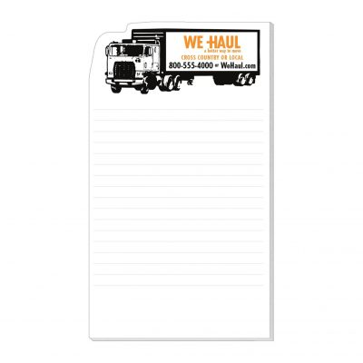 "Semi-Truck Stock Shape Die Cut Scratch Pad (4""x7"")"