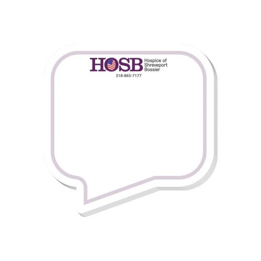 """Thought Bubble Stock Shape 25 Sheet Adhesive Die Cut Pad (4""""x4"""")"""