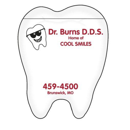 "Tooth Stock Shape 50 Sheet Adhesive Die Cut Pad (4 1/4""x5 1/4"")"